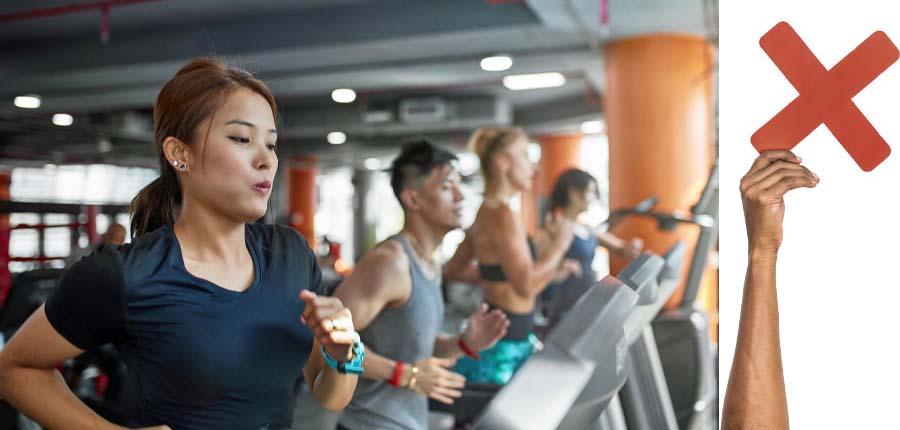 ۳. ورزش سنگین انجام دهید.-مراقبت های بعد از بوتاکس